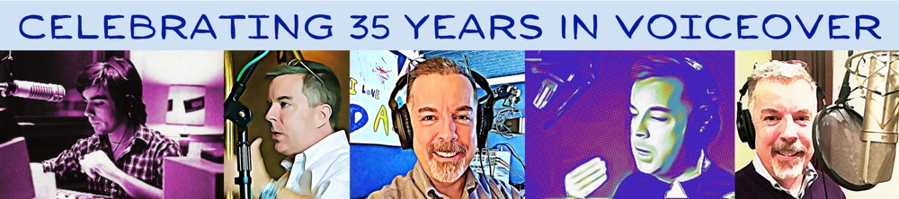 Peter is celebrating 35 years in voiceover